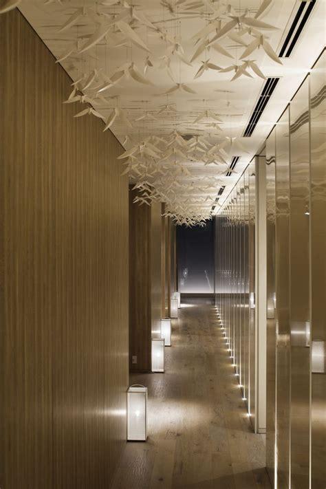 hotel light installation palace hotel tokyo corridor wall lighting artworks and ceiling design