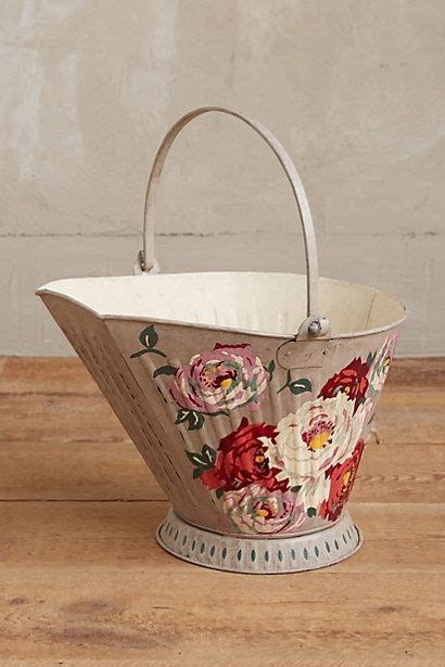 english rose garden bucket vintage shabby chic