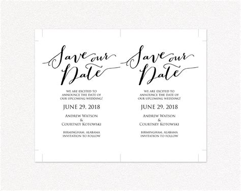 Our Card Template by Save Our Date Card Template 183 Wedding Templates And Printables