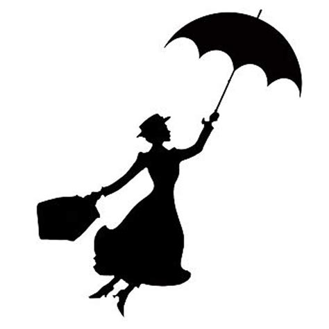 Tree Silhouette Wall Stickers popular mary poppins decoration buy cheap mary poppins