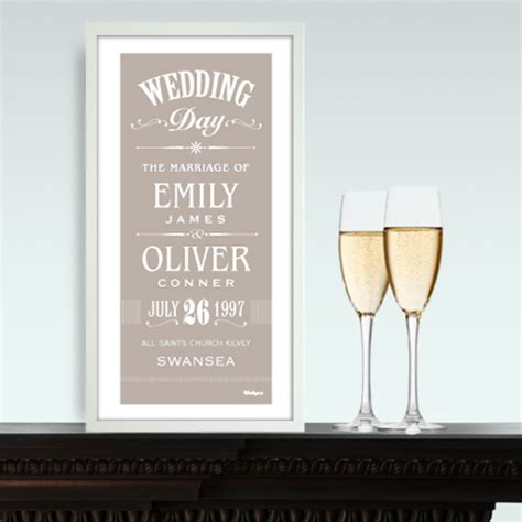 Wedding Prints by Wallspice Special Occasion Prints Personalised Wedding