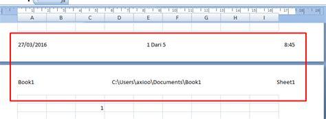 membuat header dan footer di excel membuat nomor halaman pada excel deuniv