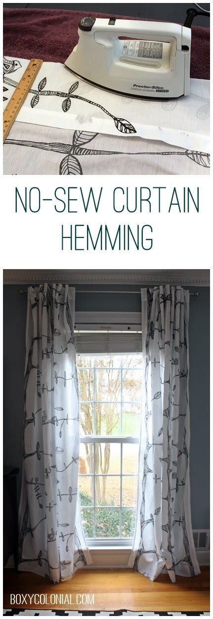 how to hem curtains with a sewing machine hemming curtains without sewing and other small things