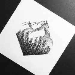 best 25 geometric mountain tattoo ideas on pinterest