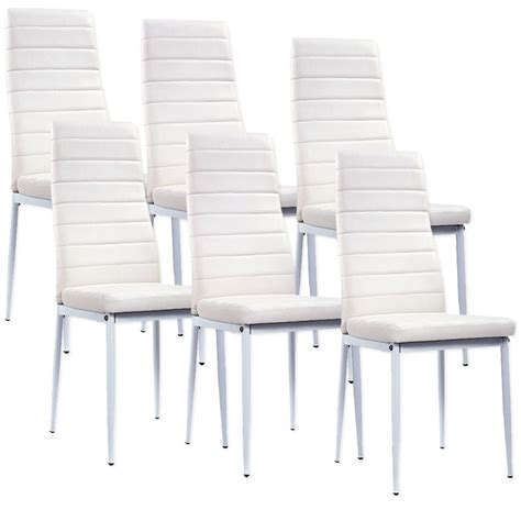 lot de 6 chaises blanches a73b electro discount