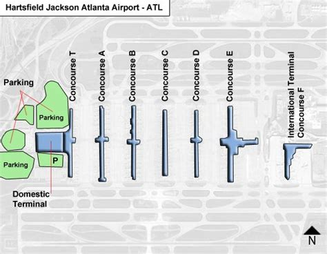 layout of atlanta airport hartsfield jackson atlanta atl airport terminal map