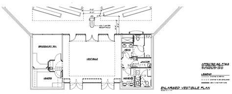 Office Curtain E Vestibule Plan St Catherine Of Siena Parish