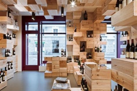 pixelated swiss wine store made from 1 500 wine boxes