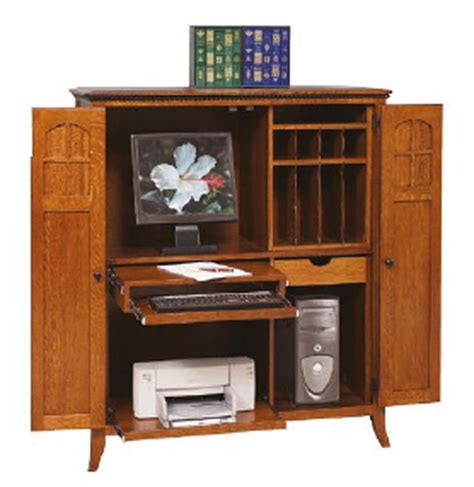 Amish Computer Armoire by Amish Mt Eaton Computer Armoire Desk
