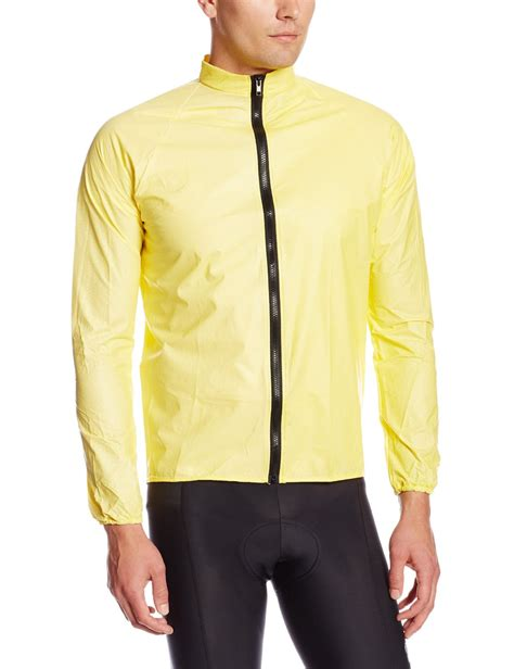bike raincoat rainshield o2 unisex cycling rain jacket yellow