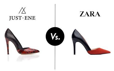 imagenes de zapatos marca miami encuentra las 7 diferencias entre una copia de zara y un