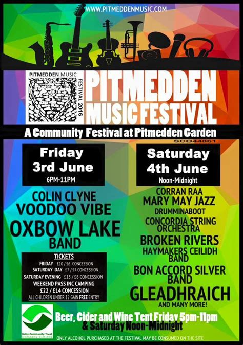 The Great Festival 29th May 3rd June by Pitmedden Festival 2016 3 4 June Tarves