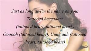 ariana grande tattooed heart with lyrics youtube