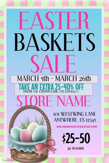 sle event flyer template easter basket sale event flyer template postermywall
