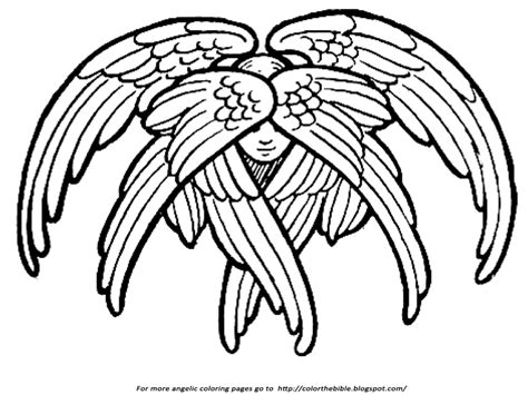 Isaiah 6 Coloring Page by Seraphim Coloring Pages