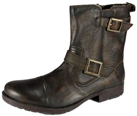 mens haddington leather ankle buckle boots uk 7