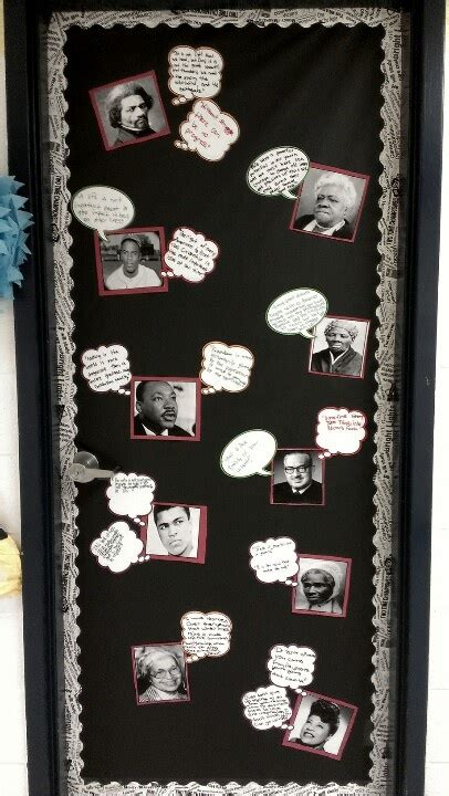 History Of Decorations by Black History Month Classroom Door Bulletin Board Idea