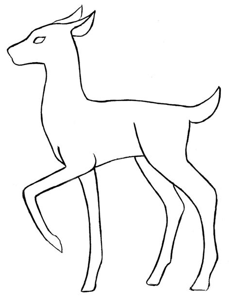 line drawing templates deer base outline by skandranon on deviantart
