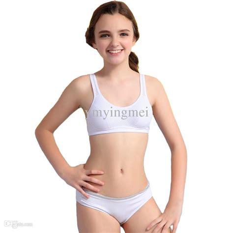 preteen bra underwear cheap wholesale wofee 2015 latest puberty girls underwear