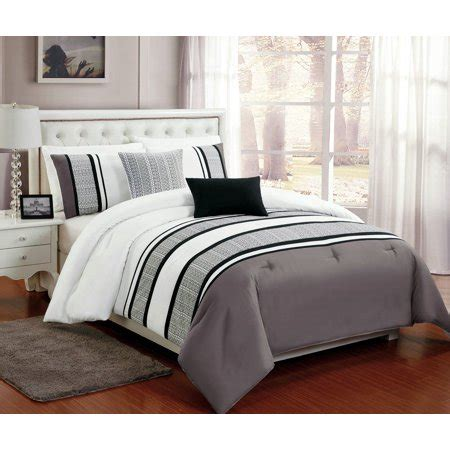 Beautiful White Comforter Sets by Beautiful 5 Pc Grey White And Black Comforter Bedding