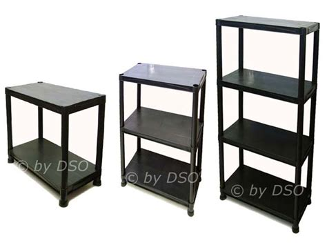 5 tier black plastic shelving storage unit 100kgs su102 ebay