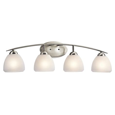 Kichler Bathroom Lighting Shop Kichler Calleigh 4 Light 9 In Brushed Nickel Bell Vanity Light At Lowes
