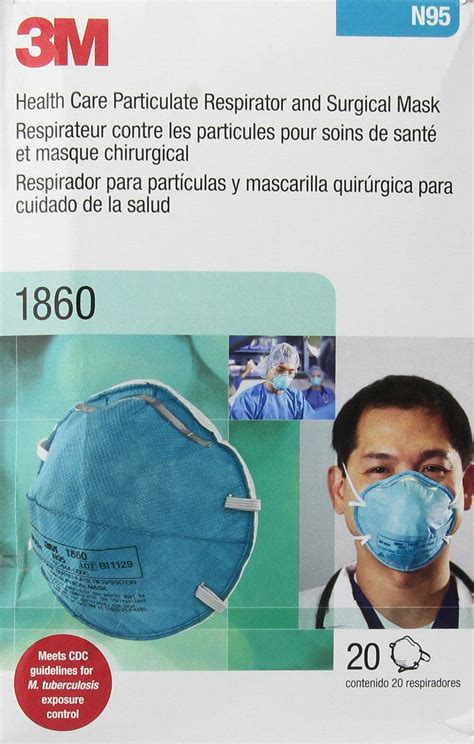 Masker N95 Respirator 1860s n95 mask box of 35 masks clark particulate filter respirator and