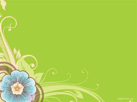 Beautiful Flower Background Powerpoint Background And Flowers Powerpoint Template