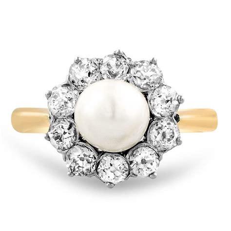 pearl vintage ring lorine brilliant earth
