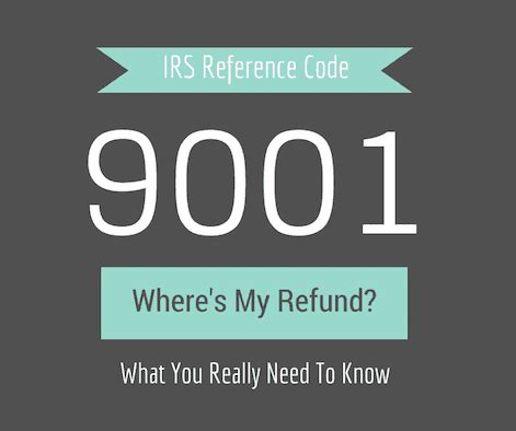 what does irs reference number 9001 really
