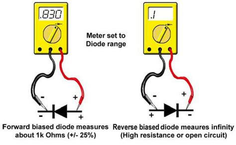 how to test diode polarity multimeter 101 measuring diodes