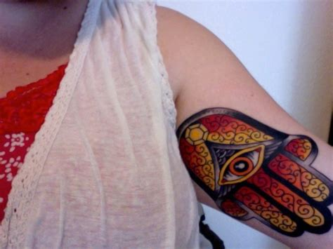 hindu hamsa hand tattoo by steve turner hellbomb tattoo