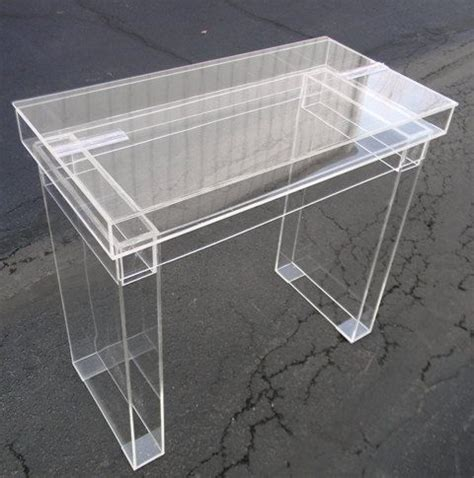 lucite desk cosmetic table fully clear quot ghost quot table