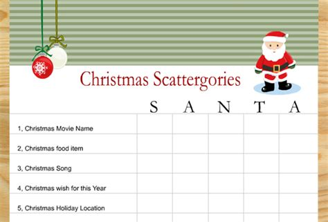 printable christmas games online free printable scattergories inspired christmas game