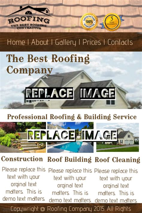 Roofing Company Template Postermywall Roofing Flyer Templates