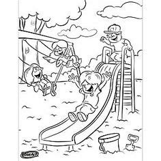 coloring pages school playground slyde the playground hound teaches playground safety