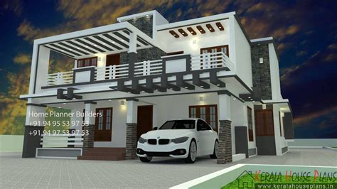 box type home in beautiful style kerala home design and box type house design 2500 sqft kerala house plans