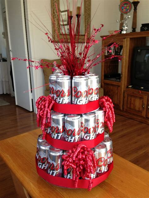beer can cake beer can cake diy gifts gift decorations cards