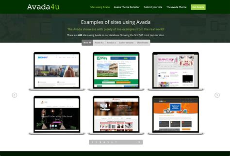 avada theme recent works a new site about avada featuring a filterable showcase