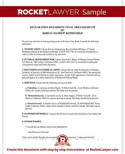Funeral Planning Checklist Planning A Memorial Service Rocket Lawyer Funeral Planning Template