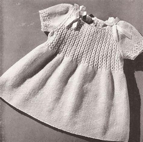 pattern knitting baby dress vintage toddler coat hat dress smocking knitting patttern