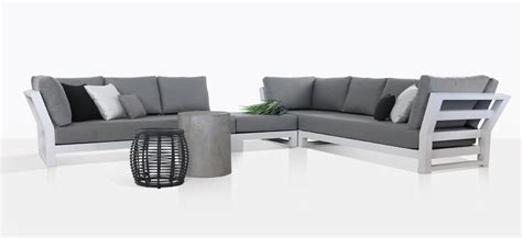 south bay outdoor furniture south bay white sectional collection outdoor furniture