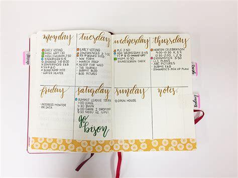 bullet journal ideas steal worthy bullet journal weekly spread ideas