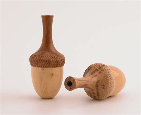 Handmade Products Uk - acorn design wooden cord pulls by martin pidgen burford