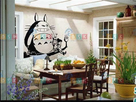totoro home decor totoro decal japanese cartoon totoro wall stickers decal