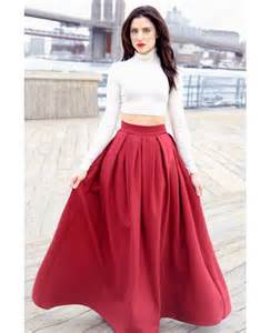 pleated full length skirt