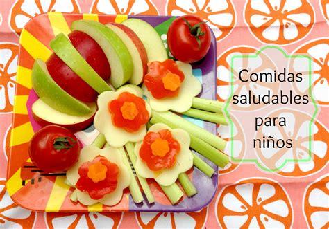 imagenes niños saludables ideas de comidas saludables para ni 241 os mama especial