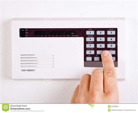 home alarm system stock photo image of system secure