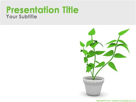 Free Environmental Powerpoint Templates Themes Ppt Plant Powerpoint Templates Free