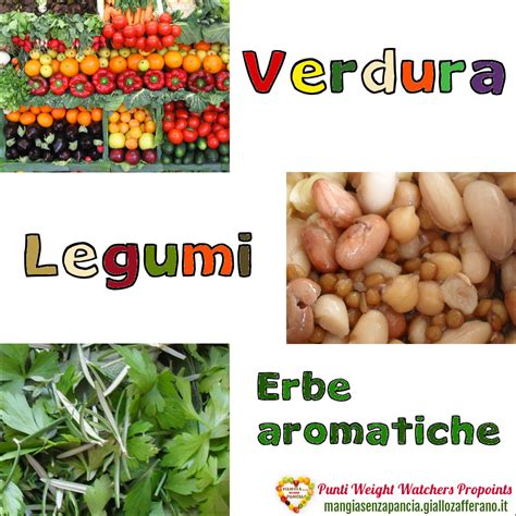 punti alimenti weight watchers punti weight watchers verdura legumi erbe aromatiche